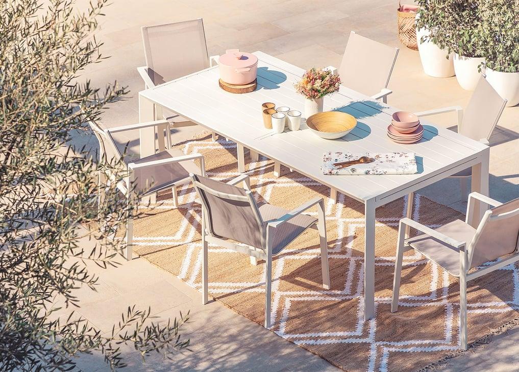Ensemble de table extensible Starmi (180-240 cm) et 6 chaises de jardin Eika, image de la galerie 1