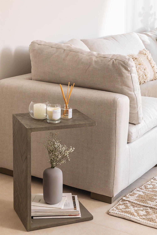 Table d'appoint en bois d'orme Belah, image de la galerie 1