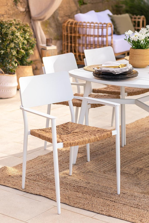 Pack 2 chaises de jardin en aluminium Amadeu, image de la galerie 1