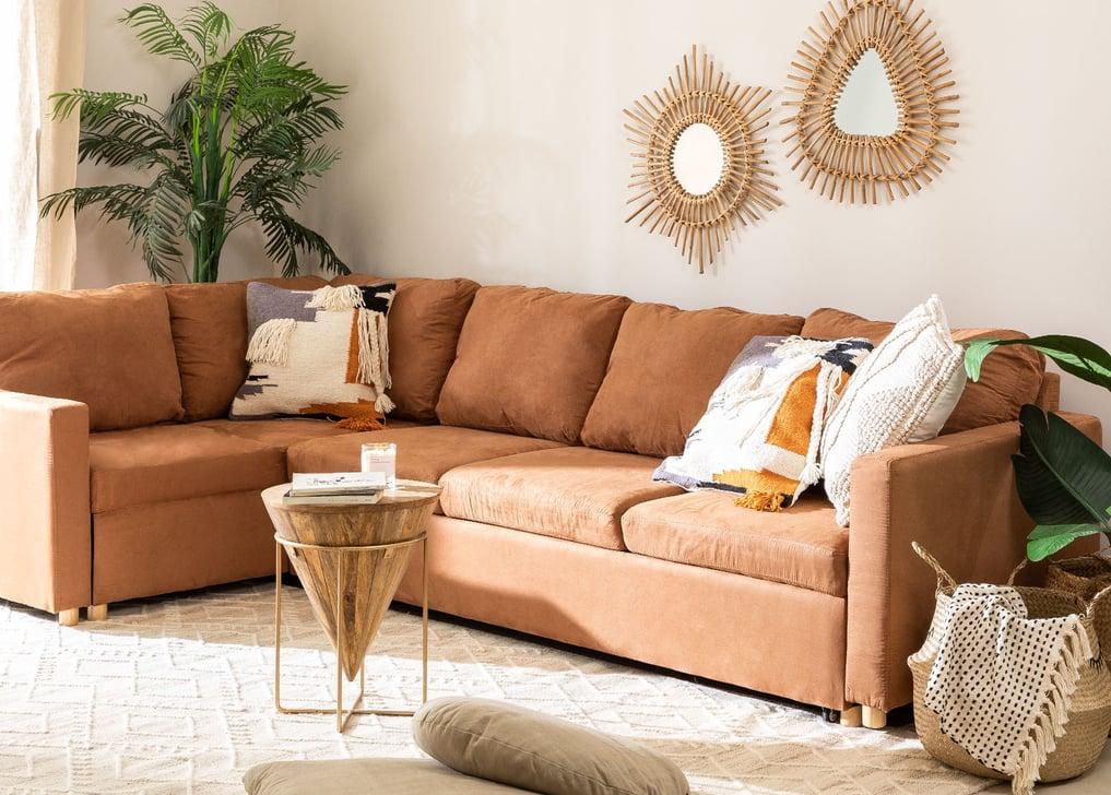 Canapé-lit d'angle 4 places Anders en tissu, image de la galerie 1