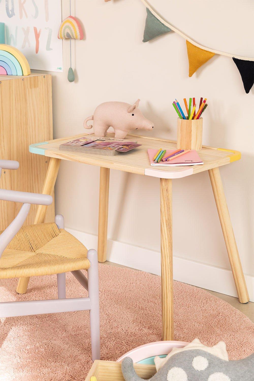 Table rectangulaire en bois (60x40 cm) Kandy Kids, image de la galerie 1