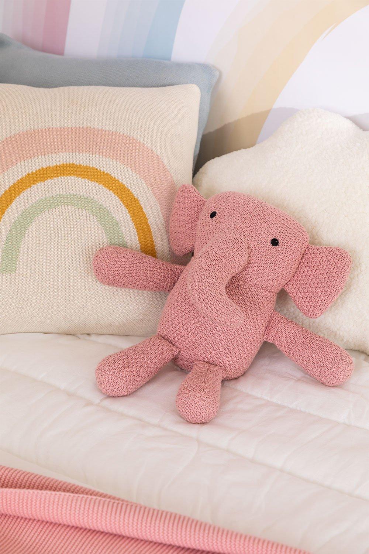 Éléphant en peluche en coton Dumbi, image de la galerie 1