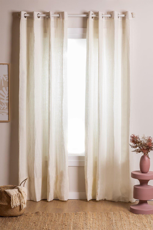 Rideau en lin (140x260 cm) Widni, image de la galerie 1