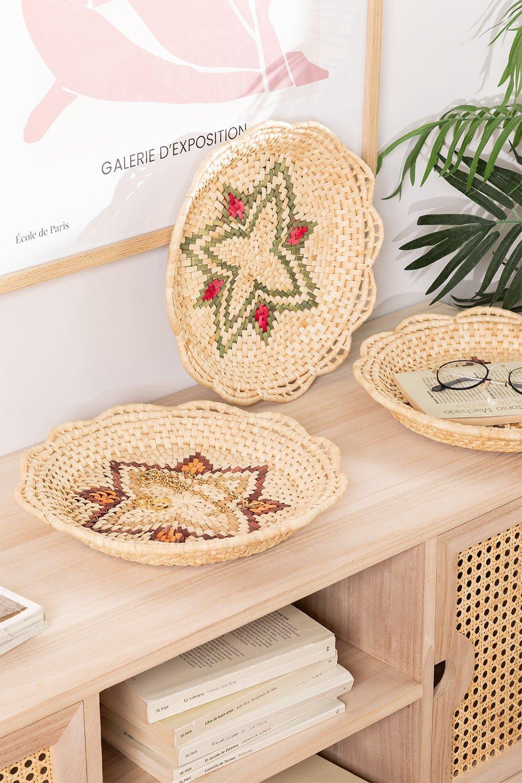 Lot de 3 assiettes décoratives Siona, image de la galerie 1