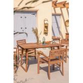 Rectangular Garden Table in Teak Wood (140x80 cm) Sushan, thumbnail image 1