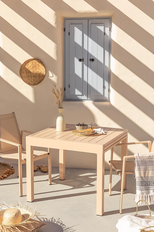 Extendable Aluminum Garden Table Starmi (90-180x90 cm) , gallery image 1