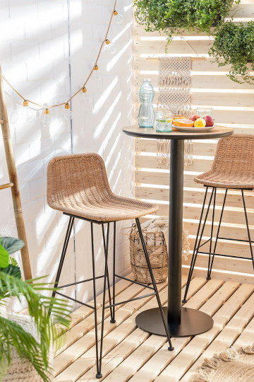 Sunset Vali Wicker Garden High Stool