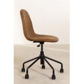Glamm Diamond Leatherette Desk Chair, thumbnail image 4
