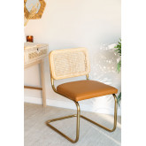 Tento Gold Leatherette Dining Chair, thumbnail image 1