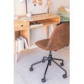 Glamm Diamond Leatherette Desk Chair, thumbnail image 2