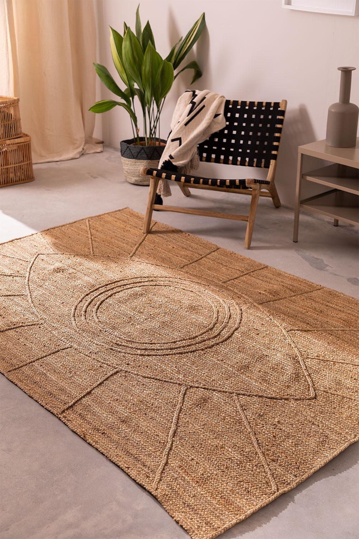Braided Rug in Natural Jute (240x160 cm) Elaine, gallery image 1