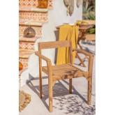 Aivan Teak Wood Garden Chair, thumbnail image 1