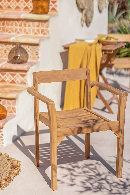 Aivan Teak Wood Garden Chair, gallery image 1