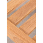 Footstool Garden Footstool in Teak Wood Confi, thumbnail image 5