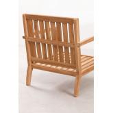 Garden Armchair in Teak Wood Confi, thumbnail image 5