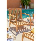 Garden Armchair in Teak Wood Confi, thumbnail image 1