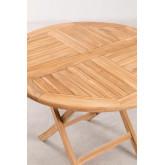 Folding Garden Table in Teak Wood (Ø100 cm) Pira, thumbnail image 4