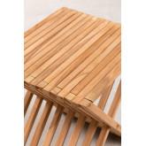 Folding Garden Side Table in Teak Wood Judit, thumbnail image 5