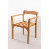 Aivan Teak Wood Garden Chair, thumbnail image 2