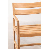 Garden Chair with Armrests in Teak Wood Yolen, thumbnail image 5