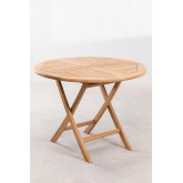 Foldable Teak Wood  Garden Set -Round Table &  2 Chairs  Pira, thumbnail image 3