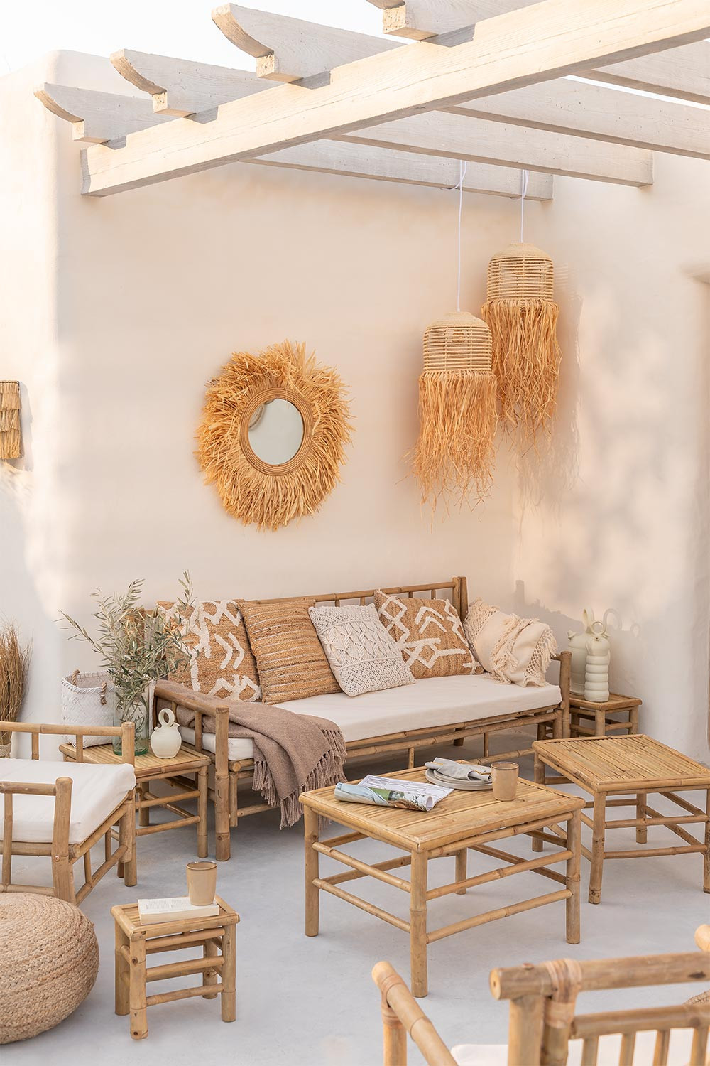 Jarvis Bamboo Nest Tables, gallery image 1