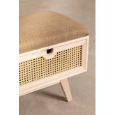 Wooden Bench with 2 Drawers Ralik Style, thumbnail image 4