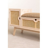 Wooden Bench with Storage Ralik Style, thumbnail image 3