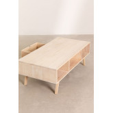 Wooden Coffee Table with Central Drawer Ralik Style, thumbnail image 6