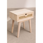 Wooden Bedside Table  Drawer Ralik Style , thumbnail image 2