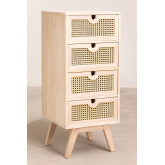 Ralik Style Wooden Chest of Drawers, thumbnail image 2