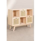 Ralik Style Wooden Sideboard with Drawers, thumbnail image 2