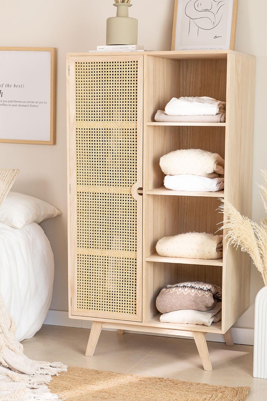 Ralik Style Wooden Wardrobe with 1 Door, gallery image 1