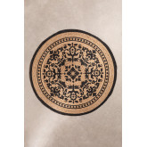 Round Natural Jute Rug (Ø100 cm) Tricia, thumbnail image 1