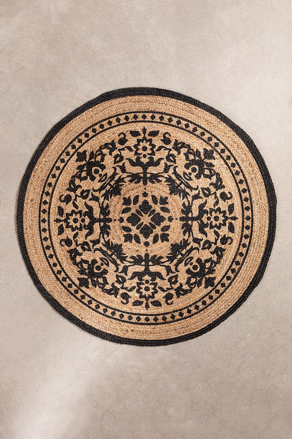 Round Natural Jute Rug (Ø100 cm) Tricia, gallery image 1