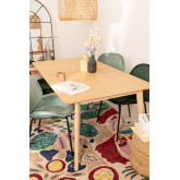 Extendable wooden dining table (180-230 X 100 cm) Ebis, thumbnail image 1