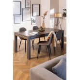 Rectangular Mango Wood Dining Table (180x90 cm) Albi, thumbnail image 1