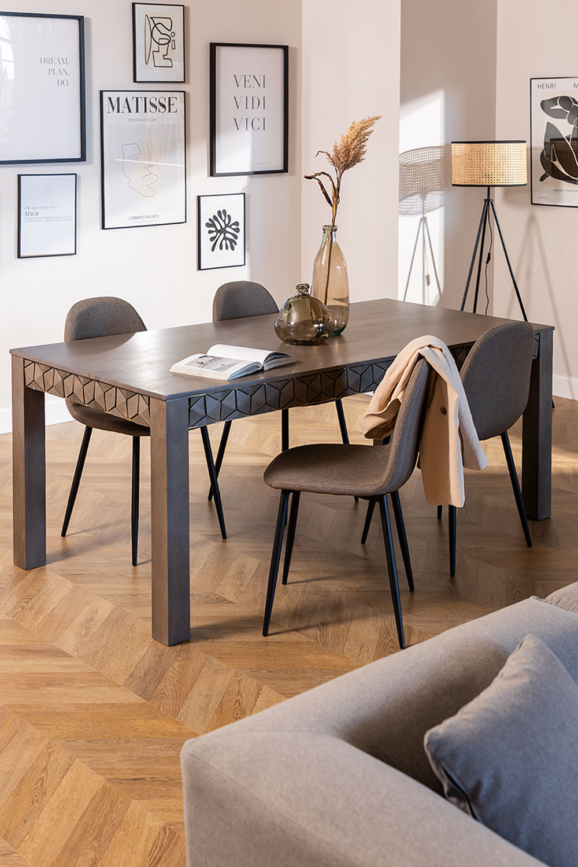 Rectangular Mango Wood Dining Table (180x90 cm) Albi, gallery image 1
