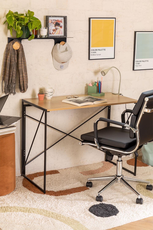 Foldable Metal & MDF Desk Andra, gallery image 1