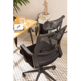 Teill Black Office Chair  on casters  with Headrest, thumbnail image 2
