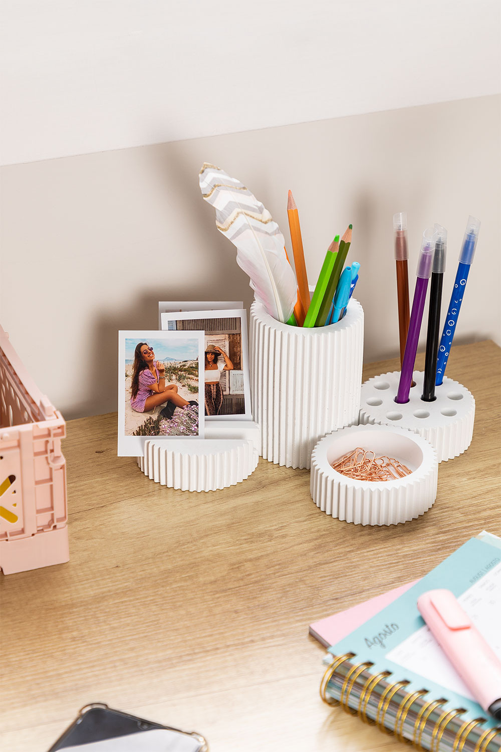 Taila Cement Table Organizer, gallery image 1
