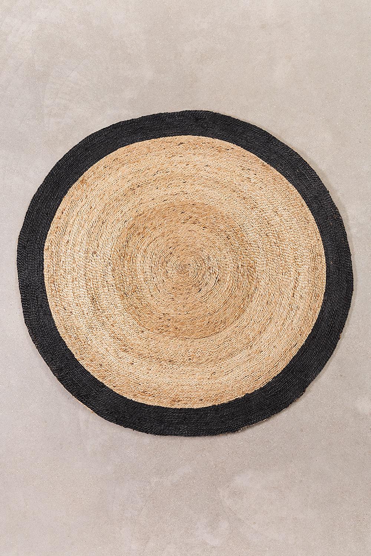 Round Natural Jute Rug Dagna (Ø150 cm) , gallery image 1
