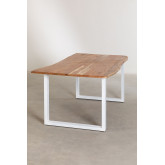 Rectangular Dining Table in Recycled Wood 180 cm Sami, thumbnail image 3