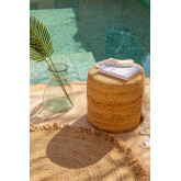 Round Pouffe in Jute Fime, thumbnail image 1