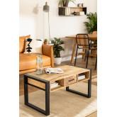 Keblar Recycled Wood Coffee Table (90x45 cm), thumbnail image 1