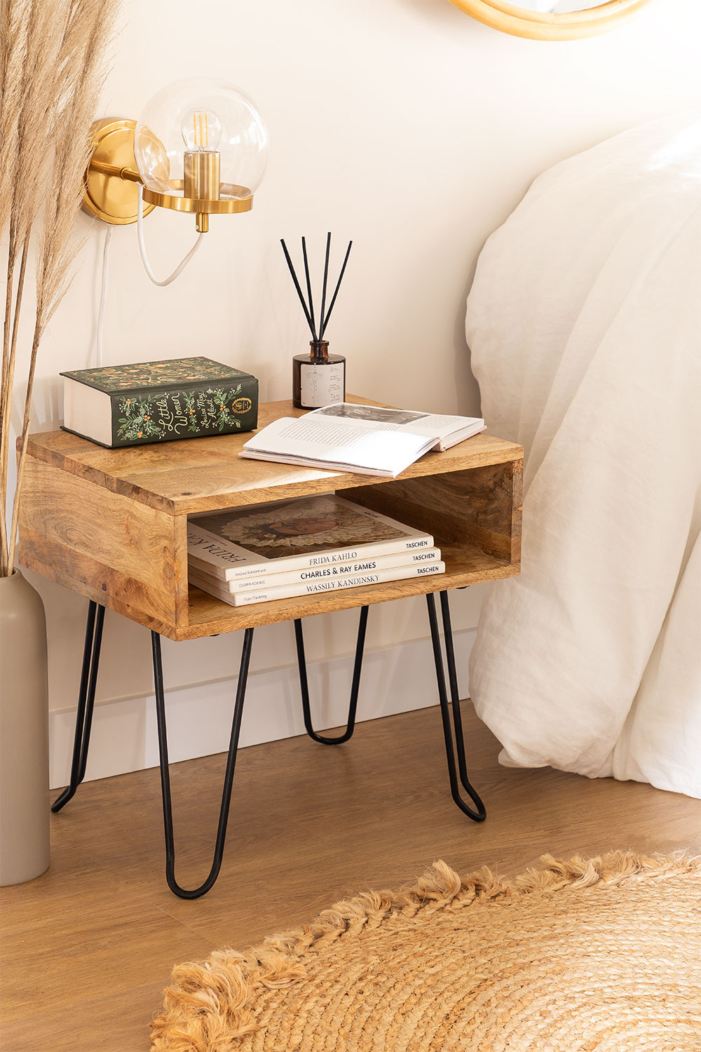 Tital Recycled Wood Nightstand, gallery image 1