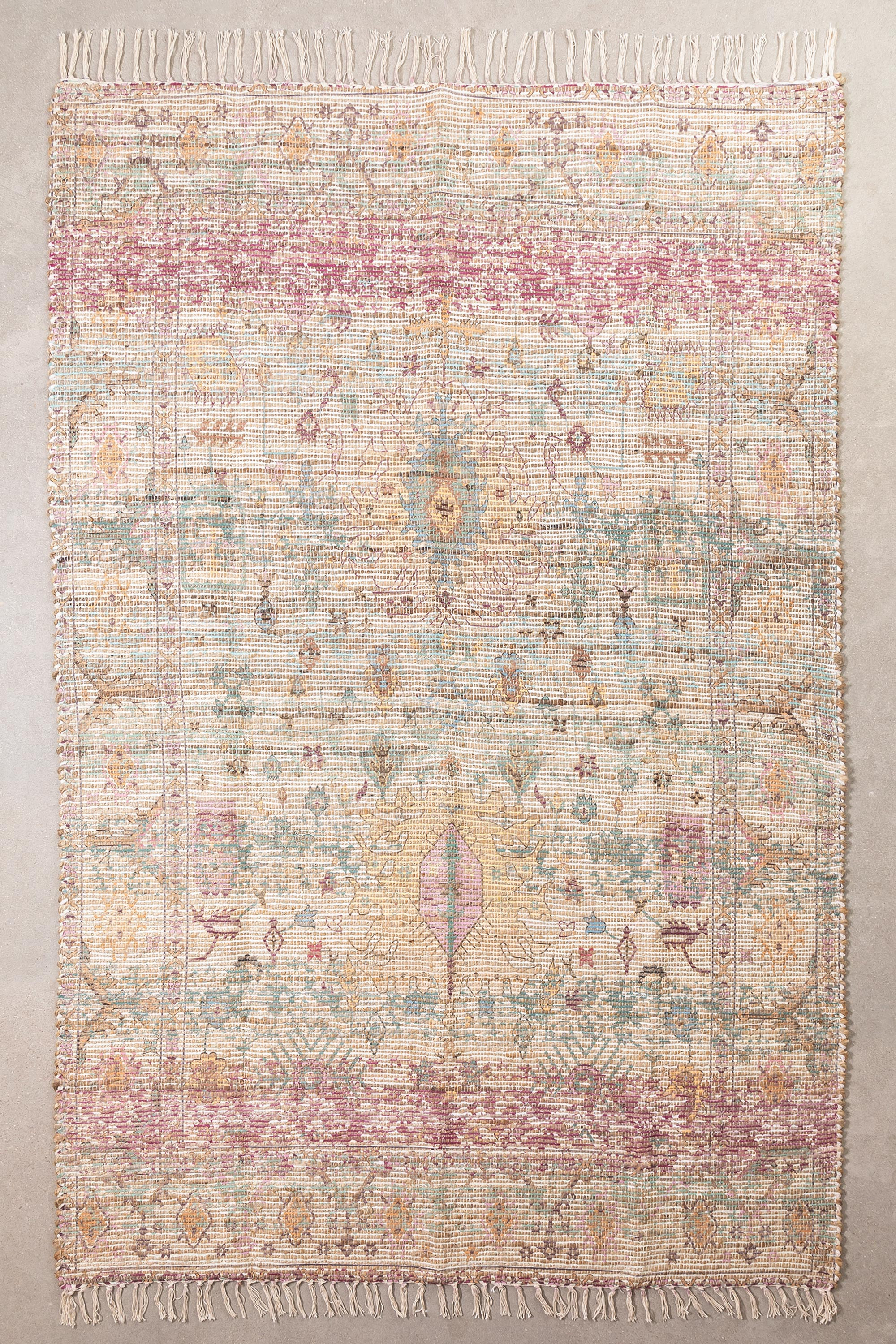 Jute and Fabric Rug (284x174 cm) Demir, gallery image 1
