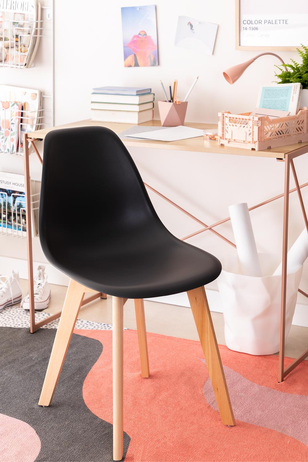 Pack of 2 Scand Scandinavian Dining Chairs, gallery image 1