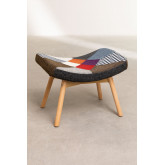 Morris Patchwork Upholstered Footstool , thumbnail image 2