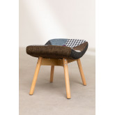 Morris Patchwork Upholstered Footstool , thumbnail image 3